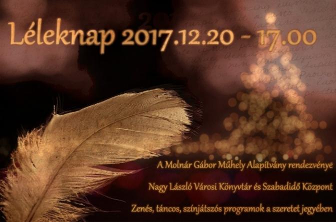 Léleknap a Molnár Gábor Műhely Alapítvánnyal – Ajka TV 2018.01.08.